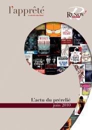 Catalogue Renov-livres A4 1j derniere version.indd - Le prérelié ...