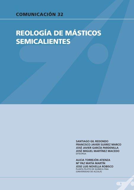 Comunicación: Reología de másticos semicalientes - Ditecpesa