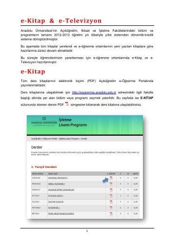 e-Kitap & e-Televizyon e-Kitap - Açıköğretim e-Öğrenme Portalı ...