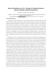 Kinetic Resolution on scCO2 - Design of Continuous Reactor Based ...