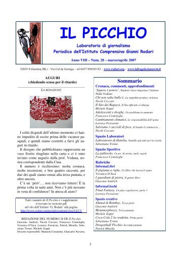 "picchio-28-anno-viii-mar-apr-2007 - IC""Rodari""-Santa Giustina"