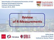 Review of R-Measurements - Nanyang Technological University