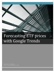 Forecasting ETF prices with Google Trends Eleonora Ivanova