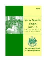 School Specific Budget 2012-13-Part-B - Finance Department ...