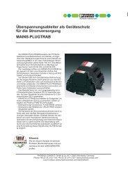 Überspannungsableiter als Geräteschutz für die Stromversorgung
