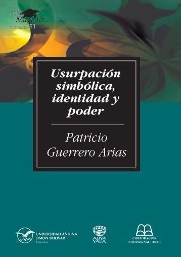 SM51-Guerrero-Usurpación simbólica, identidad y poder.pdf