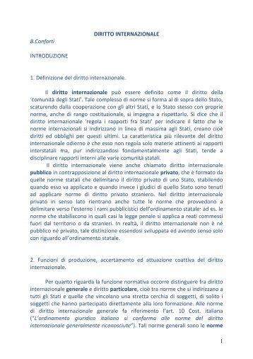 DIRITTO INTERNAZIONALE B.Conforti ... - Avv. Paolo Nesta