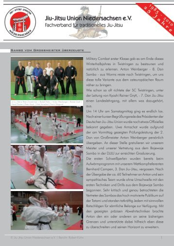 Bericht - Jiu-Jitsu Union Niedersachsen