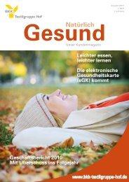 Ausgabe 3-2011 - BKK Textilgruppe Hof