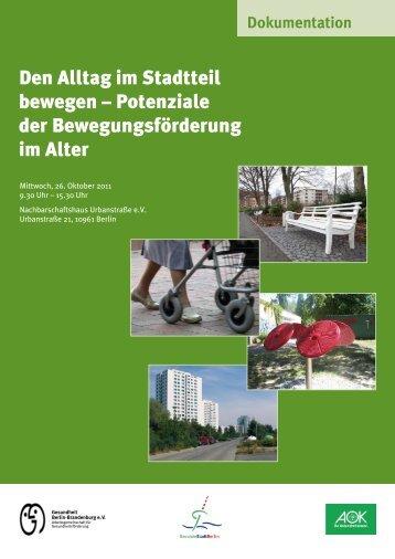 Potenziale der Bewegungsförderung im Alter - Fachstelle für ...