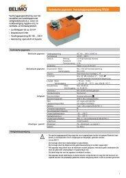 Technische gegevens Veerteruggangaandrijving TF230 - Belimo