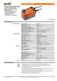 Technisches Datenblatt TF230-S - Belimo