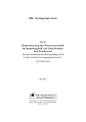 HfB – Working Paper Series - Frankfurt School of Finance ...