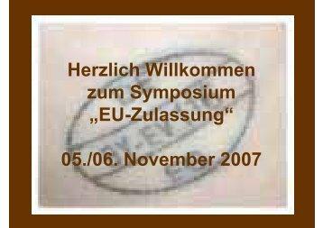 EU-Zulassung - Fleischerei-Berufsgenossenschaft