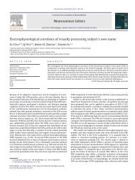 Electrophysiological correlates of visually processing subject's own ...