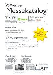 Offizieller Messekatalog - Hotel & Gast Wien