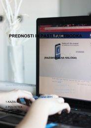 PREDNOSTI IN PASTI FACEBOOKA - Osrednja knjižnica Celje