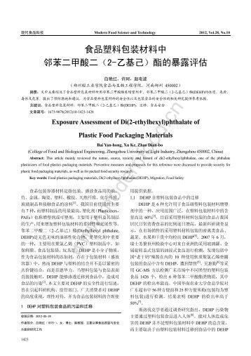 文章下载 - 现代食品网