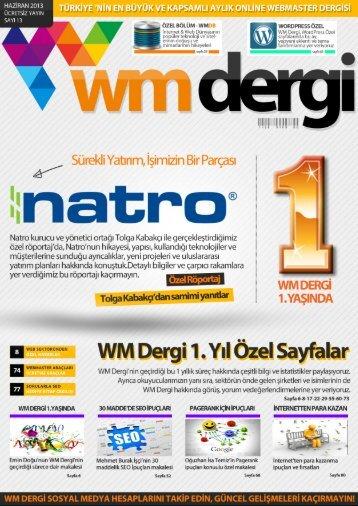 WM Dergi - 13.SAYI