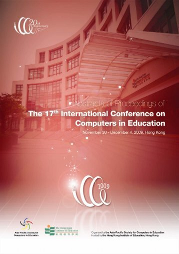ICCE2009 Abstracts of Proceedings - ICCE 2009 - The Hong Kong ...