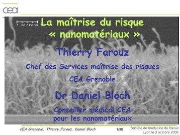 Thierry Farouz Dr Daniel Bloch - Société de Médecine & Santé au ...