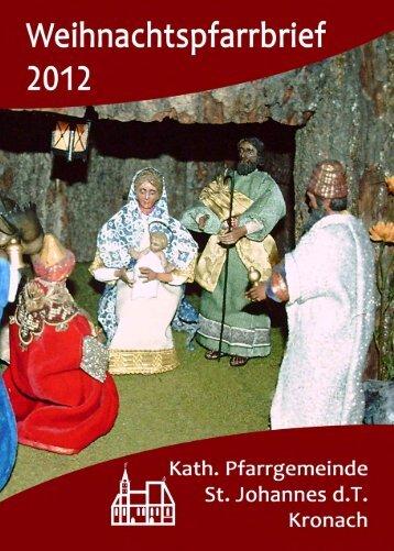 Information - Pfarrbrief - Steinberg St. Pankratius