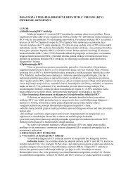 DIJAGNOZA I TERAPIJA HRONIČNE HEPATITIS C VIRUSNE (HCV ...