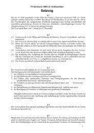 Satzung des TVG - Turnverein Germania 1890 eV Großsachsen