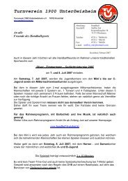 Turnverein 1900 Unteröwisheim - TV Gundelfingen 1863 eV