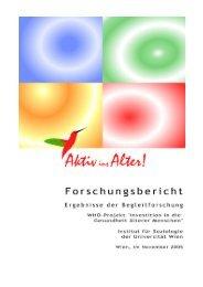 Endbericht der Begleitforschung zum WHO-Projekt - Wiener ...