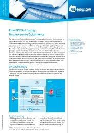 Eine PDF/A-Lösung für gescannte Dokumente - PDF Tools AG