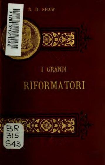 I grandi riformatori