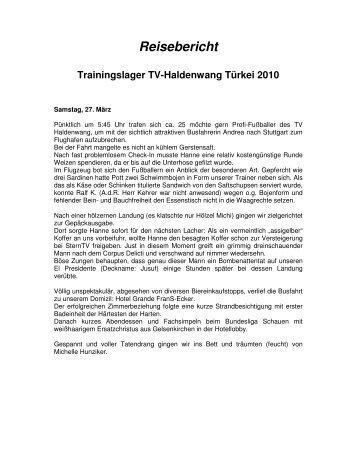 Reisebericht - TV Haldenwang Fussball