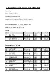 13. Rüsselsheimer Golf Masters 2011 - 15.07.2011