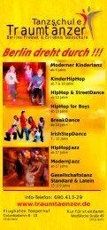 Kindertanz & HipHop Flyer als pdf-Datei - Tanzschule Traumtänzer