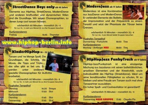 HipHop Berlin.info - Tanzschule Traumtänzer