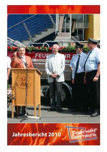 Jahresbericht 2010 - Feuerwehr Obernburg