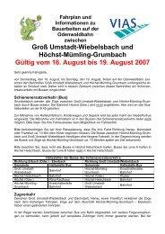 Groß Umstadt-Wiebelsbach und Höchst-Mümling ... - Dadina
