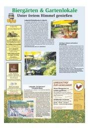 Biergärten & Gartenlokale Unter freiem Himmel genießen