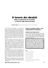 Il lavoro dei disabili - Sintesi