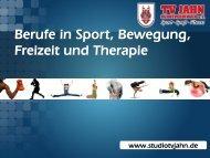Berufe in Sport, Bewegung, Freizeit und Therapie - TV Jahn ...