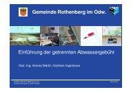 Einführung der getrennten Abwassergebühr Gemeinde Rothenberg ...