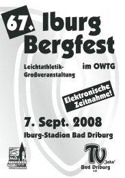 67. Iburg-Bergfest - TV