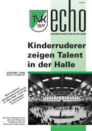 TVK-Echo 1/2009 - Turnverein 1877 eV Essen-Kupferdreh