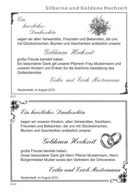 Goldenen Hochzeit Goldenen Hochzeit Hansen Werbung
