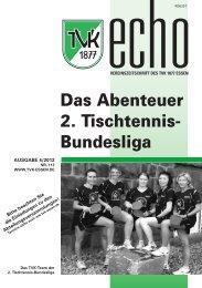 TVK-Echo 4/2012 - Turnverein 1877 eV Essen-Kupferdreh