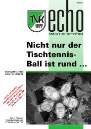TVK Echo 1/2000 - Turnverein 1877 eV Essen-Kupferdreh
