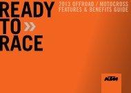 2013 offroad / motocross features & beneflts gulde - Factory Racing