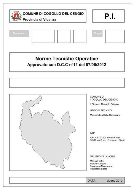 Norme Tecniche Operative Comune Di Cogollo Del Cengio