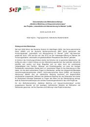 Dokumentation des Methodenworkshops - Lebensläufe und ...